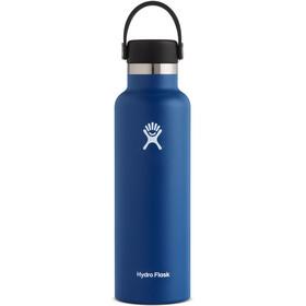 Hydro Flask Standard Mouth Drinkfles met standaard Flex Cap 621ml, cobalt